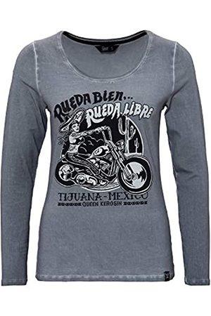 Queen Kerosin Damen Longsleeve Shirt Bikerstyle Tijuana Rueda Libre