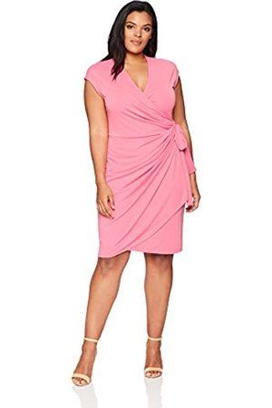 Lark & Ro Plus-Size Classic Cap-Sleeve Wrap dresses