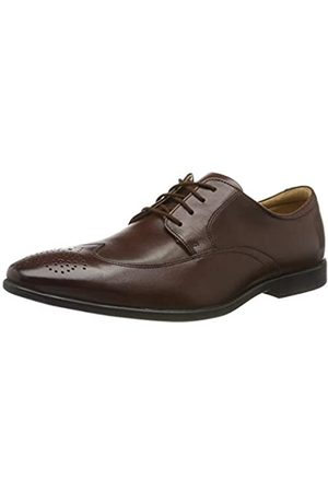 Clarks Herren Bampton Wing Brogues, (Mahogany Leather Mahogany Leather)