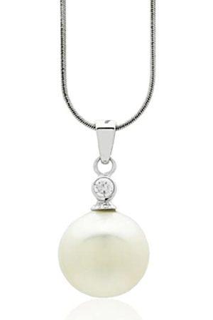 Burgmeister Damen-Halskette Muschelkernperle Zirkonia rhodiniert 925 Sterling Silber JHE1090-423