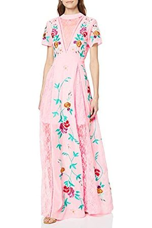 Frock and Frill Damen Gypsy Embroidered Floral Lace Front Maxi cocktailkleid