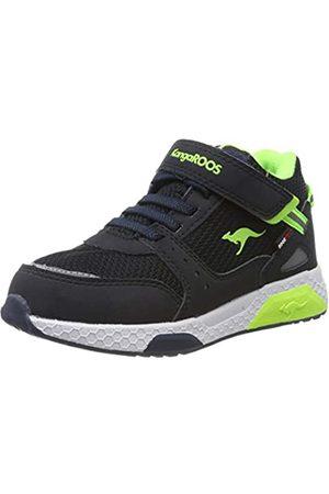 KangaROOS Unisex-Kinder Kadee Taro RTX Sneaker, (Dk Navy/Lime 4054)