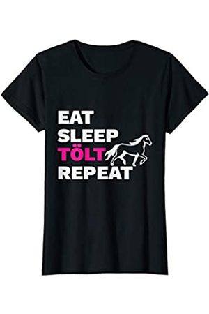 Witzige Islandppferd Reiterin Geschenkidee Islandpferd Eat Sleep Tölt Repeat Geschenk T-Shirt