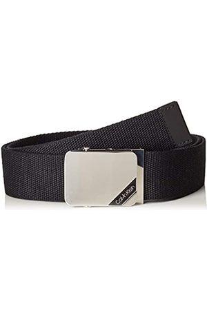 Calvin Klein Herren 4CM ADJ. Webbing Plaque Belt Gürtel