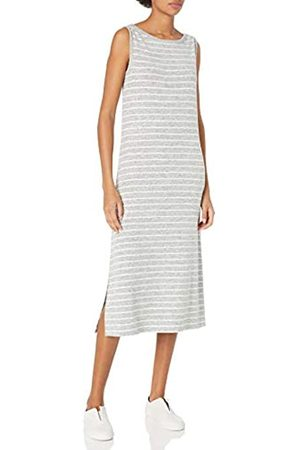 Daily Ritual Cozy Knit Sleeveless Bateau Neck Column Dresses