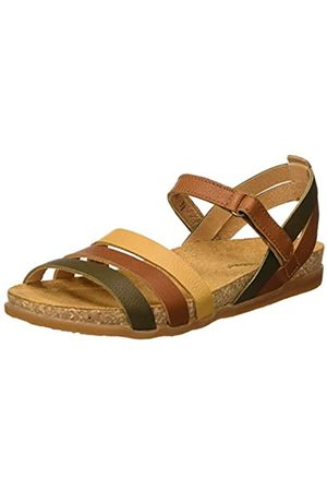 El Naturalista Damen N5244 Multi Leather Zumaia Peeptoe Sandalen, (Cuero Mixed Cuero Mixed)