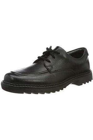 Clarks Jungen Asher Grove Derbys, (Black Leather)