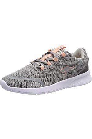 KangaROOS Unisex-Kinder KF Lock Sneaker, (Vapor Grey/Dusty Rose 2075)