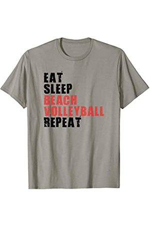 Swesly Beach Volleyball Eat Sleep Beach Volleyball Repeat Motivational Gift ACE012c T-Shirt