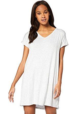 IRIS & LILLY Amazon-Marke: Damen Kurzärmeliges Nachthemd aus Jersey, L