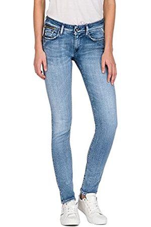 Replay Damen LUZ COIN ZIP Skinny Jeans, (Light Blue Denim 10)