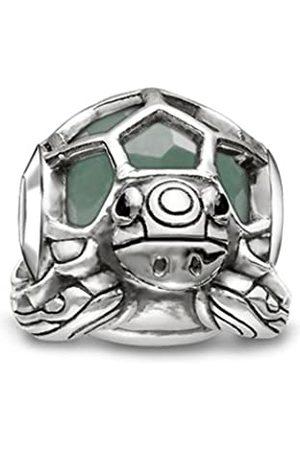 Thomas Sabo Damen-Bead Schildkröte Karma Beads 925 Sterling Silber geschwärzt Zirkonia schwarz Aventurin K0194-586-33