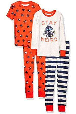 Spotted Zebra 4-Piece Snug-Fit Cotton Pajama Set