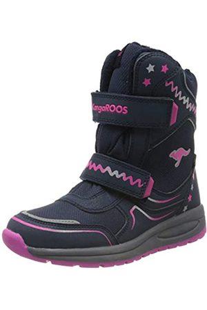 KangaROOS Unisex-Kinder K-Plush RTX Schneestiefel, (Dk Navy/Daisy Pink 4204)