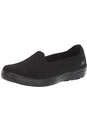 Skechers Damen On-The-go Bliss Sneaker, (Black Textile BBK)