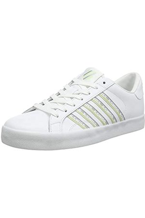 K-Swiss Damen Belmont SO Tape Sneaker, (White/Slvr/Seafoamgrn 186)