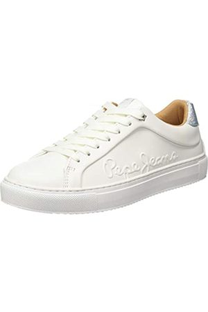 Pepe Jeans London Damen Adams Logo Sneaker, (White 800)