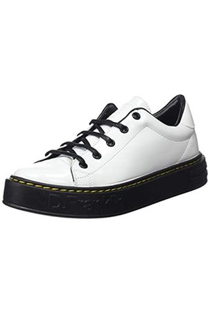 D.franklin Damen Gumme Patent Sneakers, (Blanco 0001)