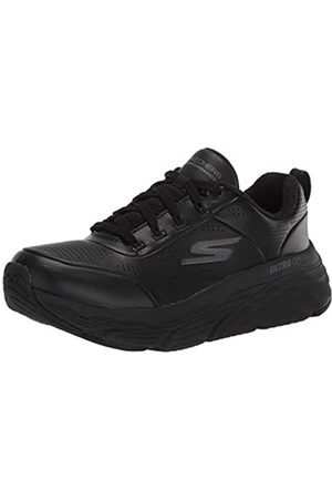 Skechers Damen MAX Cushioning Elite Step UP Sneaker, (Black Leather/Trim BBK)