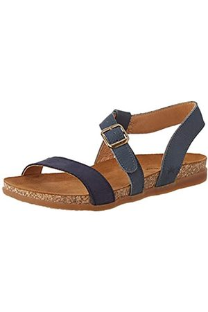 El Naturalista Damen N5245 Multi Leather Zumaia Peeptoe Sandalen, (Marino Mixed Marino Mixed)