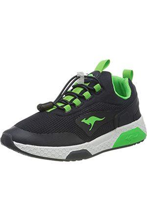 KangaROOS Unisex-Kinder Kadee Bop Sneaker, (Dk Navy/Lime 4054)