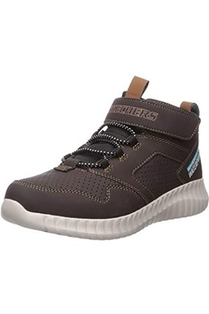 Skechers Boys' Gore & Strap Retro Sneake Trainers, Brown (Chocolate Synthetic/Black & Brown Trim Chocolate)