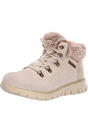 Skechers Damen Snergy Kurzschaft Stiefel, (Natural Suede/Taupe Faux Fur Nat)