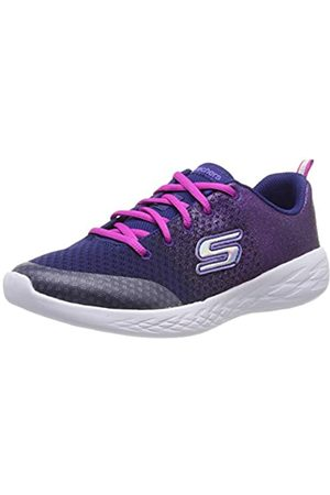 Skechers Girls' Go Run 600-sparkle Speed Trainers, Blue (Navy Pink Nvpk)
