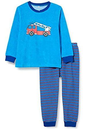 Playshoes Jungen Frottee Feuerwehr Zweiteiliger Schlafanzug