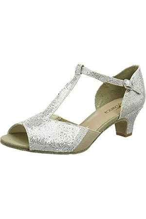 So Danca Damen Bl33 Tanzschuhe-Standard & Latein, (Silver)