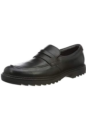 Clarks Jungen Asher Stride Mokassin, (Black Leather)
