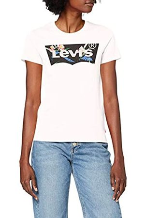 Levi's Damen The Perfect Tee T-Shirt, (Floral Filled Batwing White+ 0794)