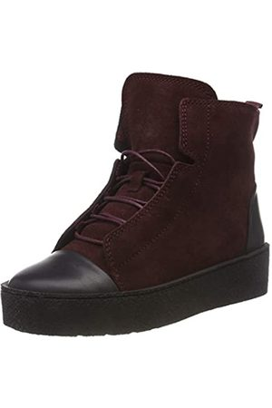 Ten Points Damen Johanna Hohe Sneaker, (Bordeaux 802)