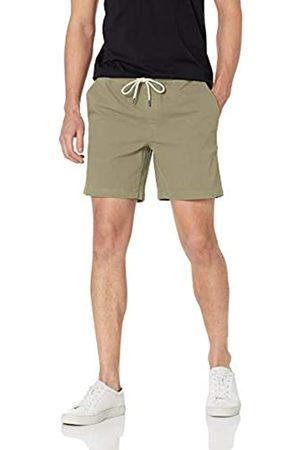 Goodthreads Amazon-Marke: Herren Schlupf-Shorts, aus Canvas, Komfort-Stretch, 17,78 cm (7 Zoll) Beininnenlänge, Olive