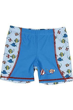 Playshoes Jungen UV-Schutz Shorts Fische hellblau Badeshorts