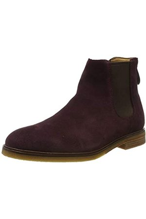 Clarks Herren Clarkdale Gobi Chelsea Boots, (Burgundy Suede Burgundy Suede)