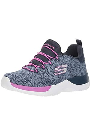 Skechers Girls' Dynamight-Break-Through Trainers, Blue (Navy/Multi Nvmt)