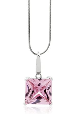Burgmeister Damen-Halskette rhodiniert Zirkonia 925 Sterling Silber JHE1017-421