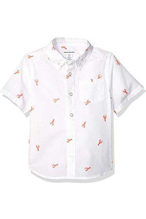 Amazon Jungen-Kurzarmshirt Poplin/Chambray, Lobster