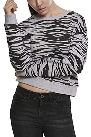 Urban classics Damen Pullover Ladies All-Over-Print Short Sweater Crewneck Sweatshirt