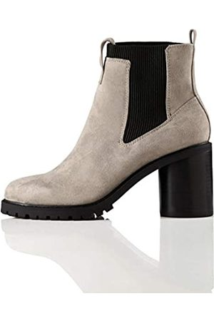 FIND Chunky Sole Chelsea Boots, Grey)