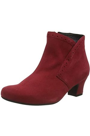 Hotter Damen Dallas Kurzschaft Stiefel, (Claret Brogue 349)