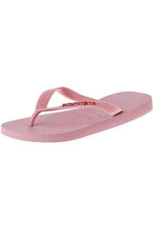 Havaianas Damen Top Logo Metallic Zehentrenner, Pink (Lilac Lavender 7599)