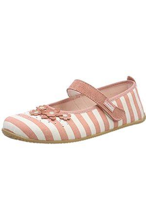 Living Kitzbühel Mädchen Ballerina Streifen & Blumen Niedrige Hausschuhe, Pink (Dark Rose Cloud 329)