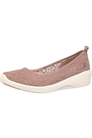 Skechers Damen Arya - Airy Days Geschlossene Ballerinas, Pink (Mauve Crochet/White Trim Mve)