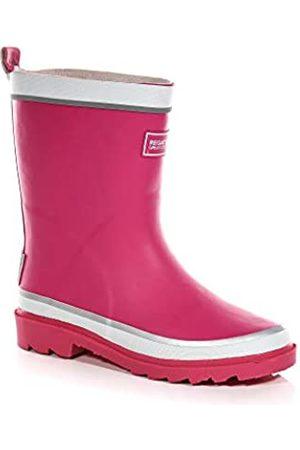 Regatta Mädchen Foxfire Jnr Kurzschaft Gummistiefel, Pink (Jem/White 673)