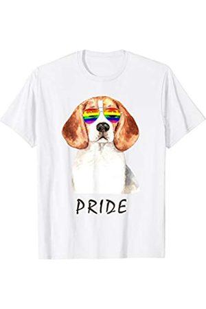 1252.08 Beagle Sonnenbrille Pride LGBT Regenbogen Flagge T-Shirt
