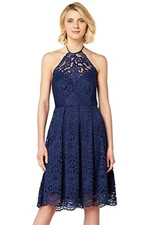 TRUTH & FABLE Amazon-Marke: Damen Kleid mit Neckholder aus Spitze, 46
