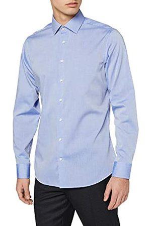 Seidensticker Herren Business Tailored Fit – Bügelfreies, Schmales Hemd mit Kent-Kragen – Langarm – 100% Baumwolle Businesshemd