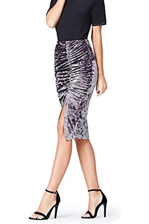 FIND Amazon-Marke: Damen Rock Grid Velvet Ruched, 40